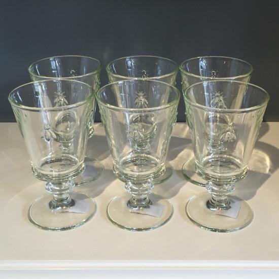 bee glasses water