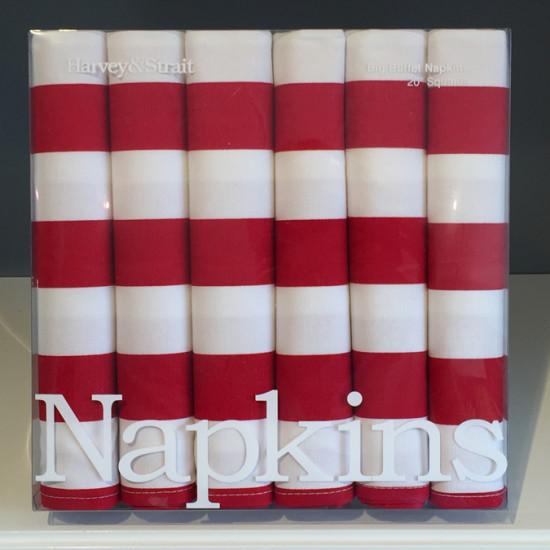 napkins stripes